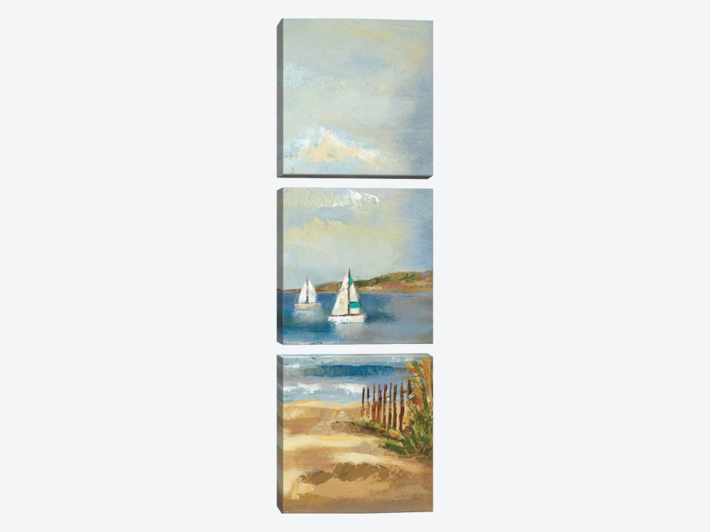 Sunny Beach Panel II by Wild Apple Portfolio 3-piece Canvas Artwork