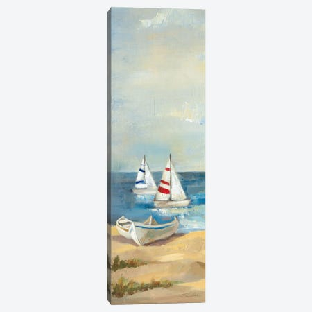 Sunny Beach Panel III Canvas Print #WAC1596} by Wild Apple Portfolio Canvas Wall Art