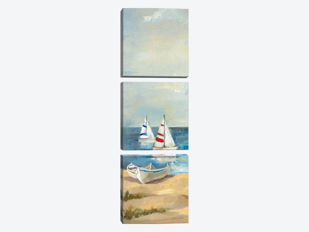 Sunny Beach Panel III by Wild Apple Portfolio 3-piece Canvas Art Print
