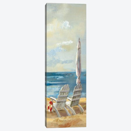 Sunny Beach Panel IV Canvas Print #WAC1597} by Wild Apple Portfolio Canvas Art
