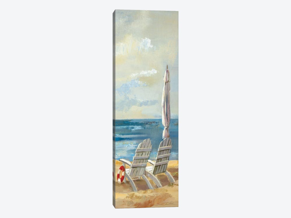Sunny Beach Panel IV by Wild Apple Portfolio 1-piece Canvas Art