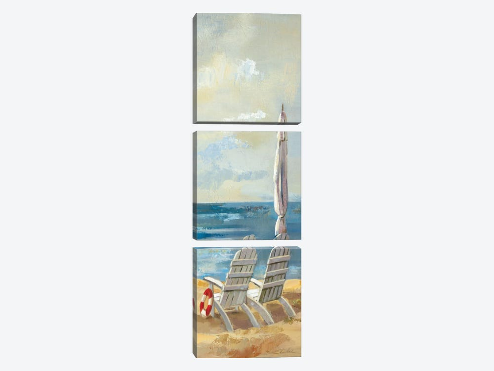 Sunny Beach Panel IV by Wild Apple Portfolio 3-piece Canvas Art