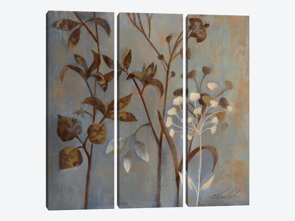 Branches in Dusty Blue by Wild Apple Portfolio 3-piece Canvas Art Print