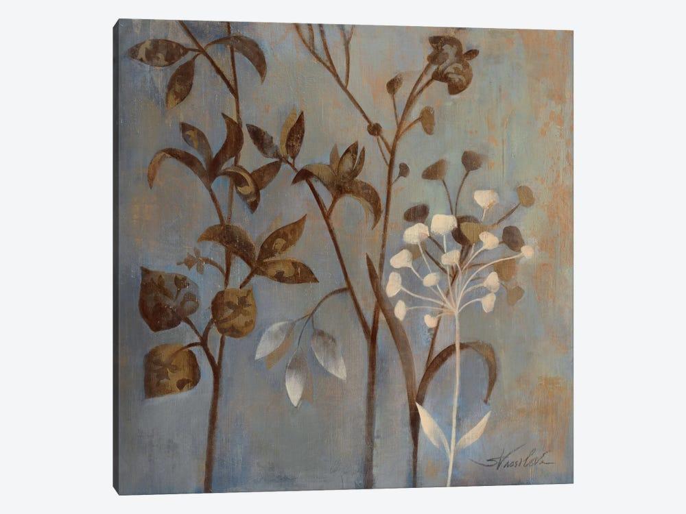 Branches in Dusty Blue by Wild Apple Portfolio 1-piece Canvas Art Print
