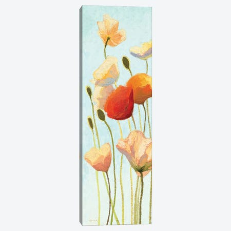Just Being Poppies II Canvas Print #WAC1605} by Wild Apple Portfolio Canvas Artwork