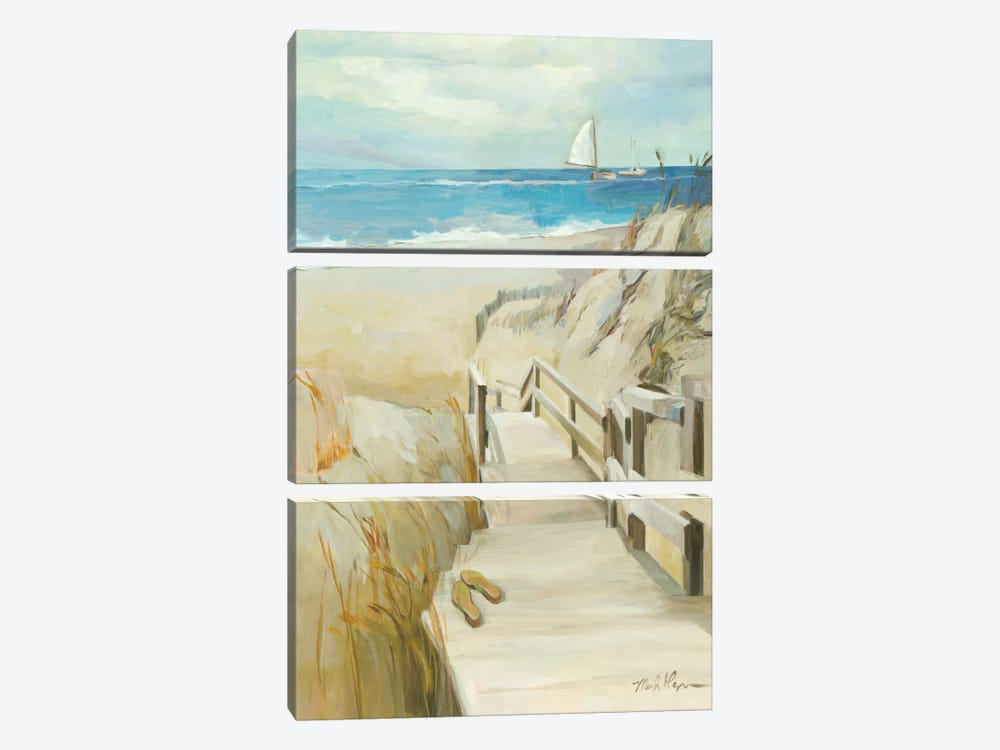 Coastal Escape by Wild Apple Portfolio 3-piece Canvas Art