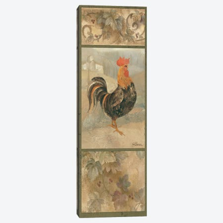 Black Rooster Canvas Print #WAC1618} by Wild Apple Portfolio Canvas Artwork