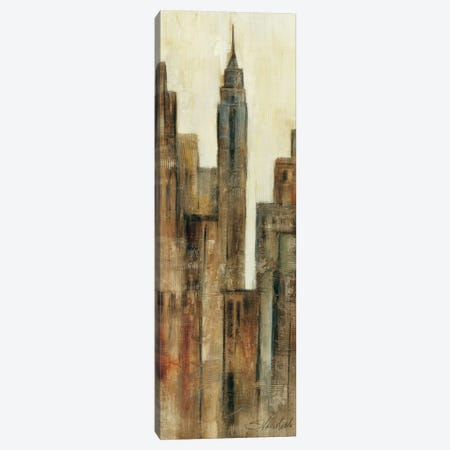 New York Sunrise I Canvas Print #WAC1624} by Wild Apple Portfolio Canvas Artwork