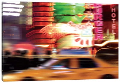 Taxi Canvas Art Print