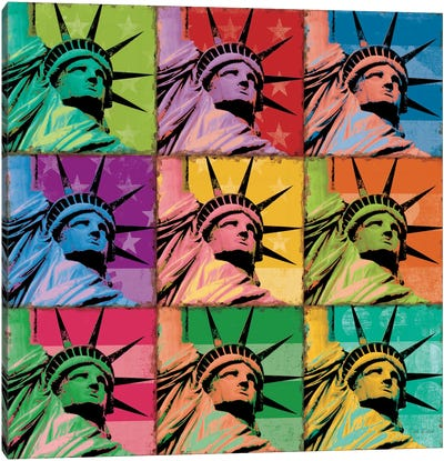 Pop Liberty Canvas Art Print