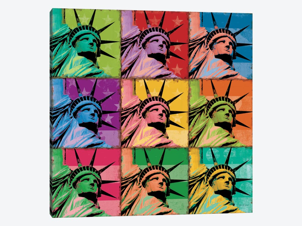 Pop Liberty by Ben Richard 1-piece Canvas Print