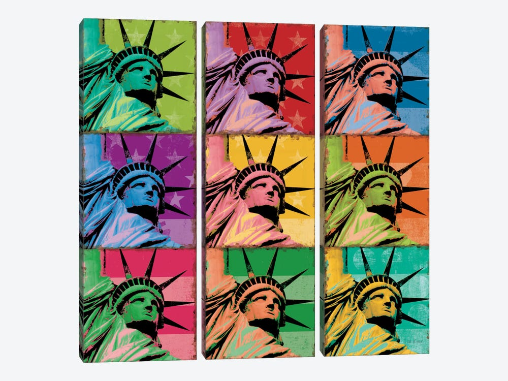 Pop Liberty by Ben Richard 3-piece Art Print