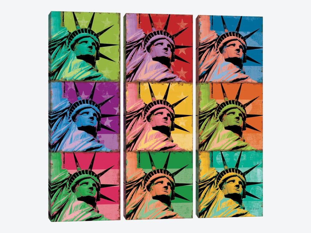 Pop Liberty by Ben Richard 3-piece Art Print