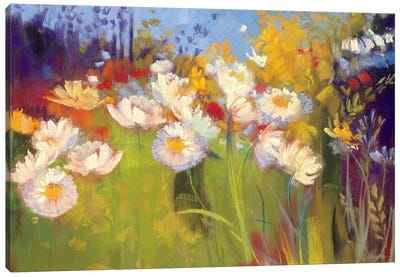 Contemporary Meadow Canvas Art Print