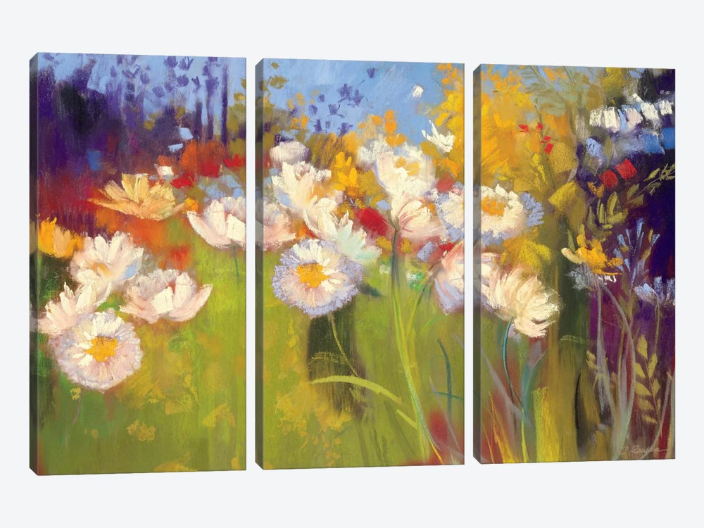 Contemporary Meadow by Carol Rowan 3-piece Canvas Art Print