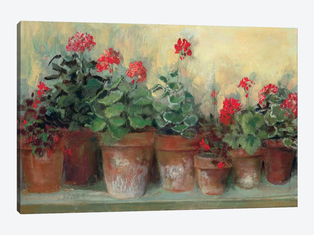 Kathleen's Geraniums by Carol Rowan 1-piece Canvas Art