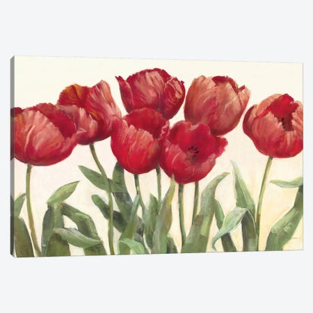 Ruby Tulips Canvas Print #WAC1656} by Carol Rowan Canvas Art Print