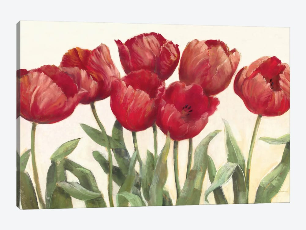 Ruby Tulips 1-piece Canvas Art Print