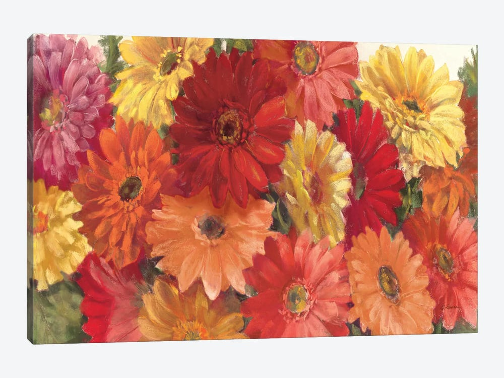 Bountiful Gerberas Crop by Carol Rowan 1-piece Canvas Art