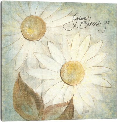 Daisy Do IV (Give Blessings) Canvas Art Print