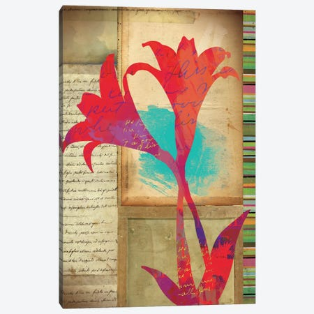 Floral Notes II Canvas Print #WAC1700} by Dominic Orologio Canvas Art
