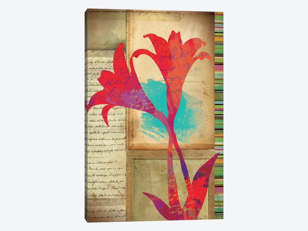 Floral Notes II 1-piece Canvas Art Print