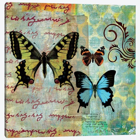 Homespun Butterfly I Canvas Print #WAC1701} by Dominic Orologio Canvas Art