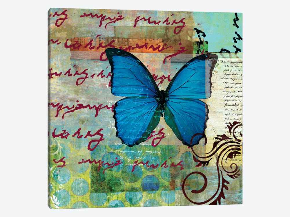 Homespun Butterfly II by Dominic Orologio 1-piece Canvas Print