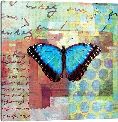 Homespun Butterfly III Canvas Art Print