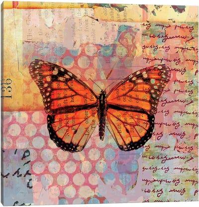 Homespun Butterfly IV Canvas Art Print