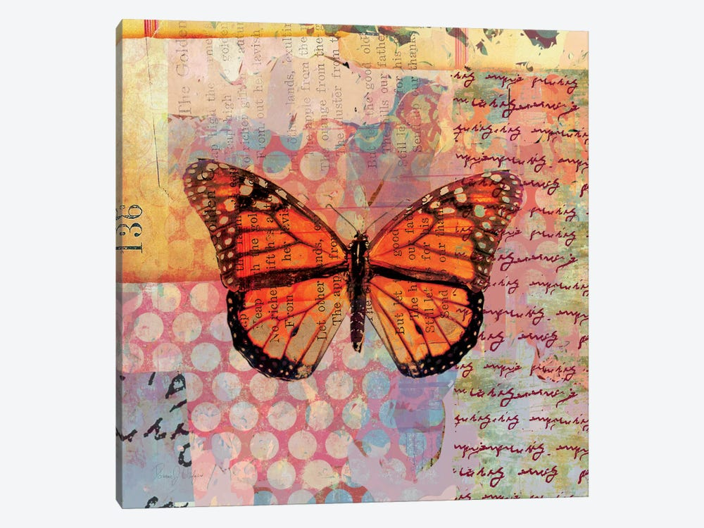 Homespun Butterfly IV by Dominic Orologio 1-piece Canvas Print