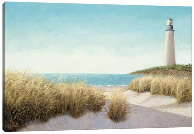 Lighthouse by the Sea Canvas Art Print
