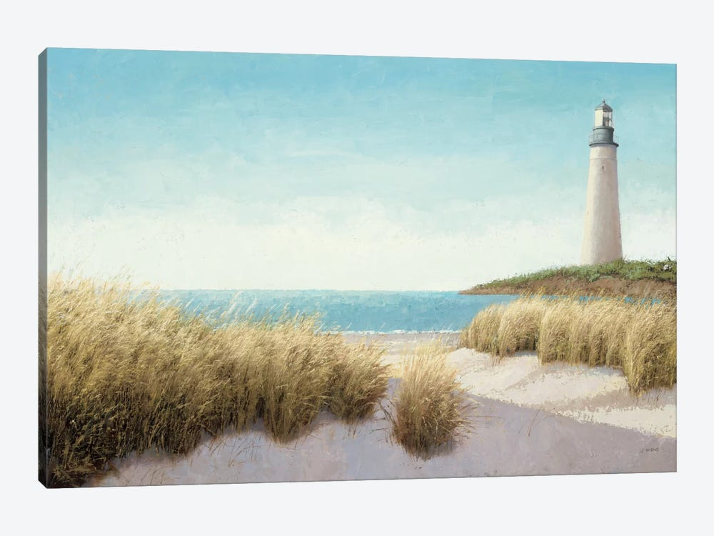 Lighthouse by the Sea by James Wiens 1-piece Canvas Artwork