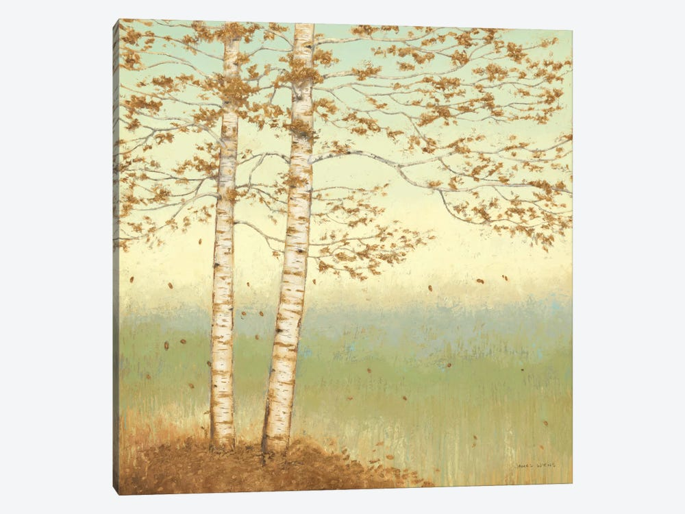 Golden Birch I with Blue Sky by James Wiens 1-piece Canvas Art