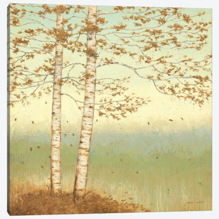 Golden Birch I with Blue Sky 3-Piece Canvas #WAC1710} by James Wiens Canvas Art Print