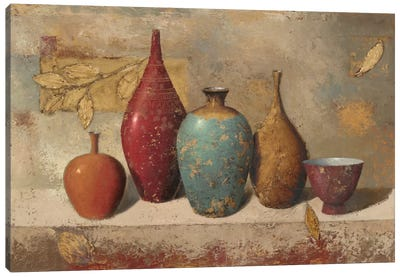 Leaves and Vessels Canvas Print #WAC1714