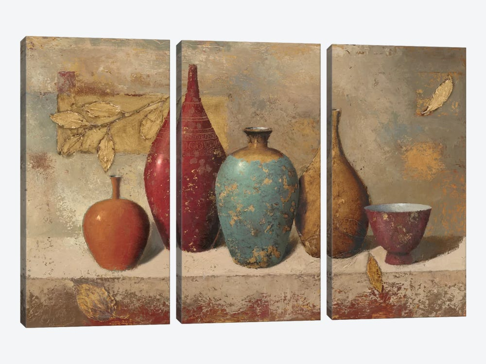 Leaves and Vessels by James Wiens 3-piece Canvas Art
