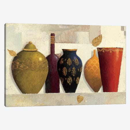 Jeweled Vessels 3-Piece Canvas #WAC1715} by James Wiens Canvas Wall Art