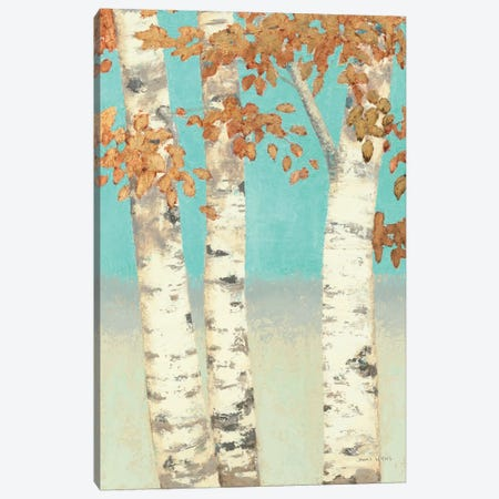 Golden Birches II Canvas Print #WAC1718} by James Wiens Canvas Art Print