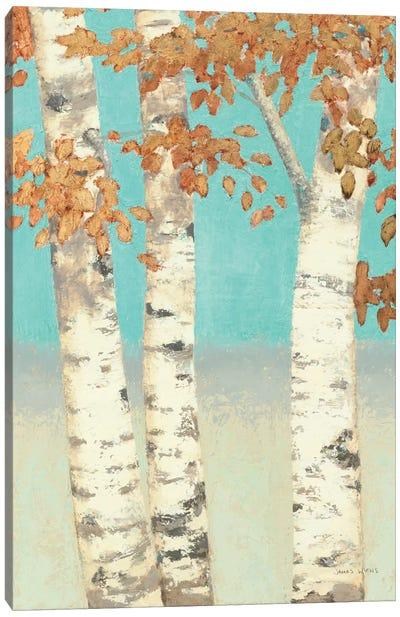 Golden Birches II Canvas Print #WAC1718