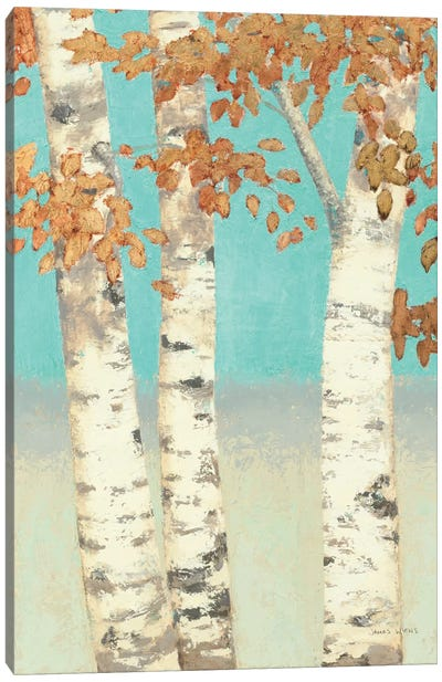Golden Birches II Canvas Art Print