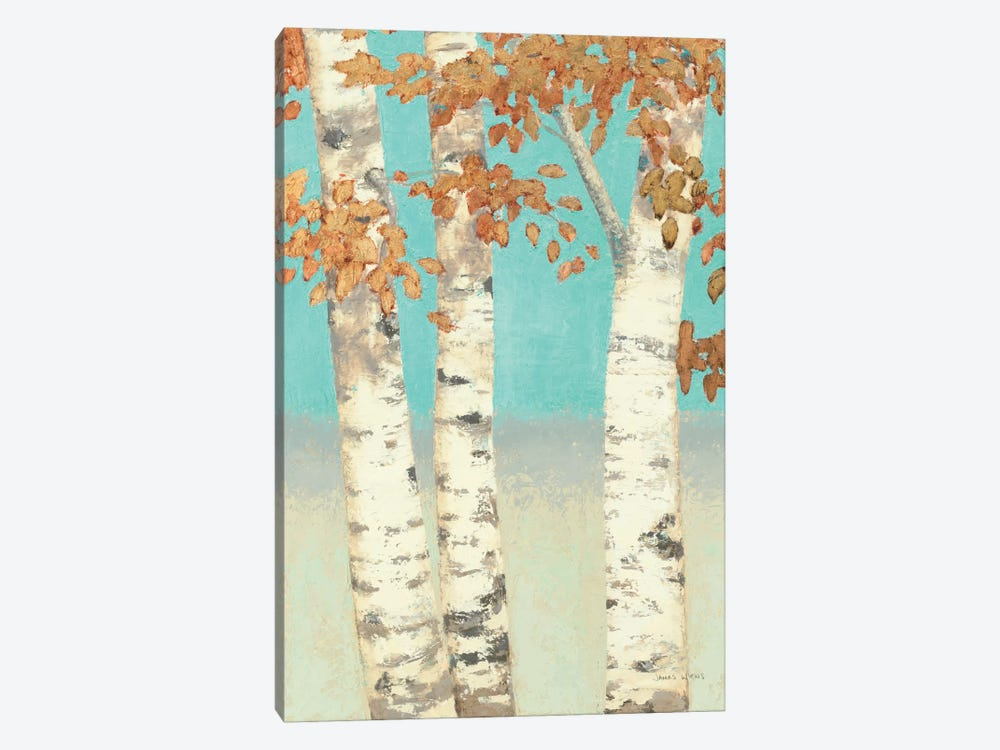 Golden Birches II 1-piece Canvas Wall Art