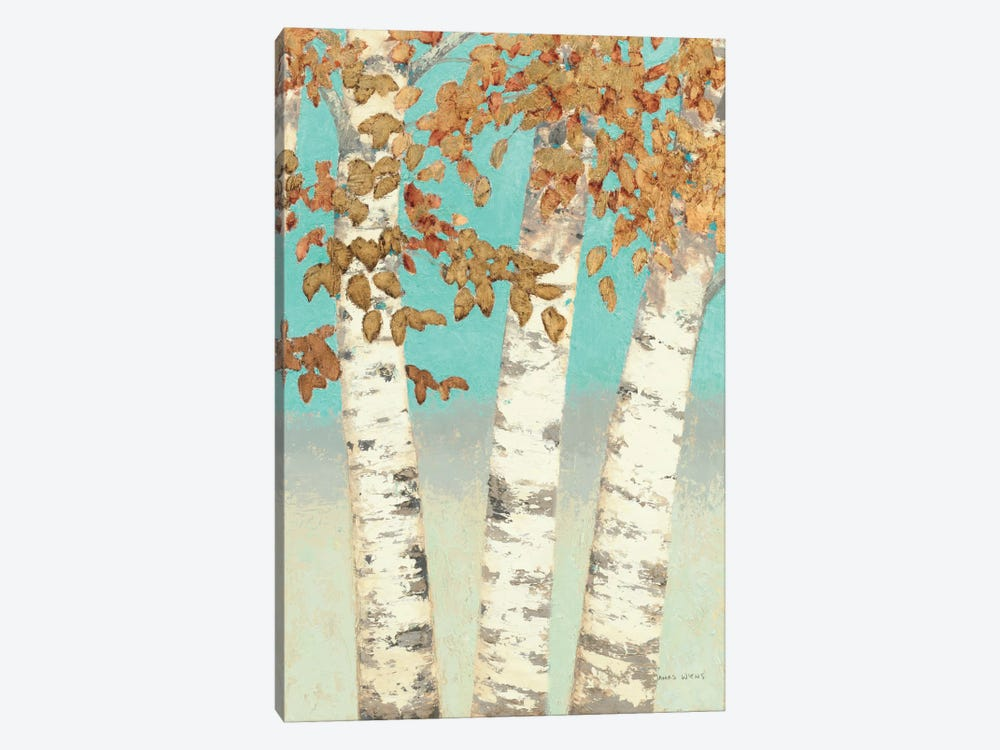 Golden Birches III by James Wiens 1-piece Canvas Art Print