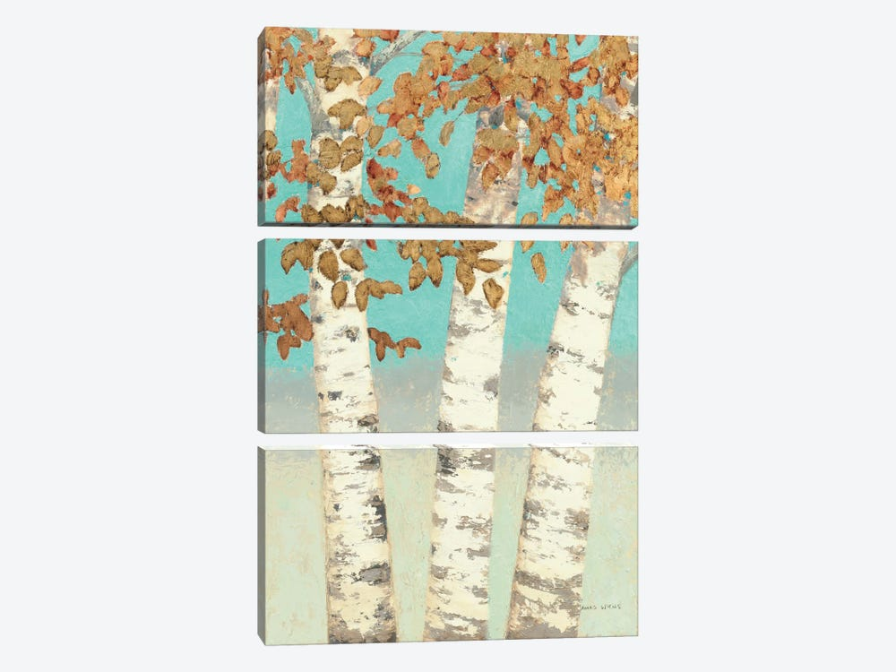 Golden Birches III by James Wiens 3-piece Art Print