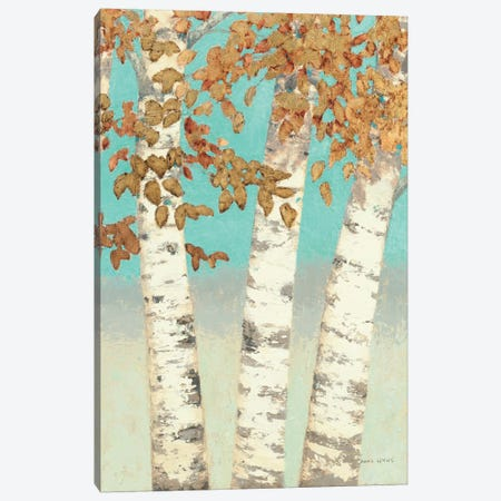 Golden Birches III Canvas Print #WAC1719} by James Wiens Art Print