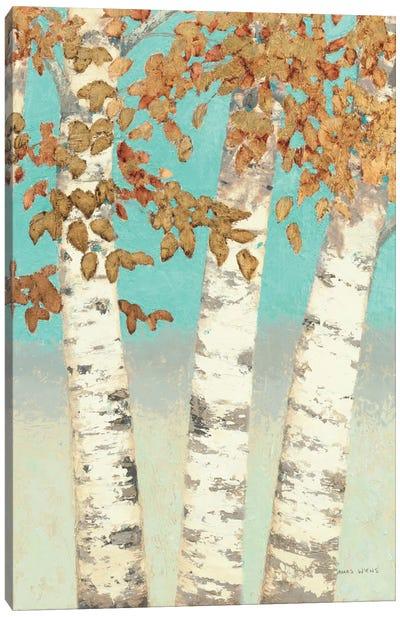 Golden Birches III Canvas Art Print