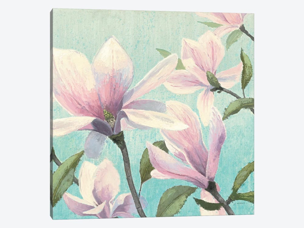 Southern Blossoms I Square by James Wiens 1-piece Canvas Art Print