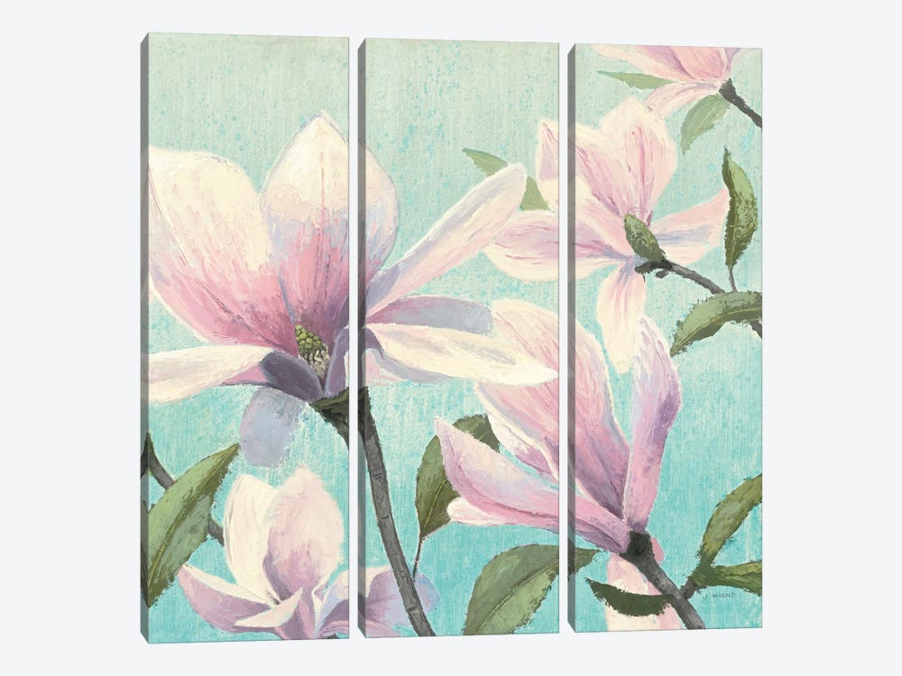 Southern Blossoms I Square by James Wiens 3-piece Canvas Art Print