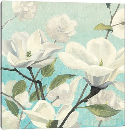 Southern Blossoms II Square Canvas Art Print
