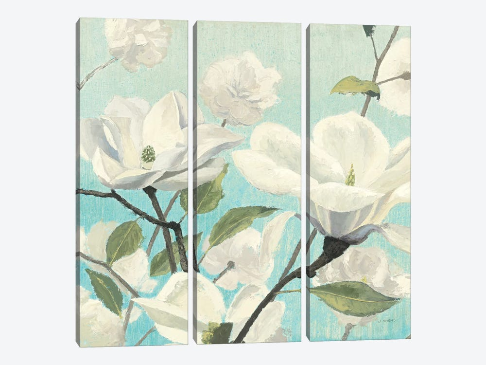 Southern Blossoms II Square by James Wiens 3-piece Canvas Artwork